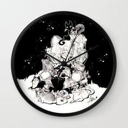 Catlady Dreams Wall Clock