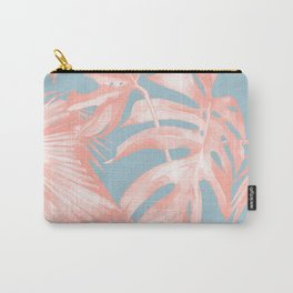 Island Love Coral Pink on Pale Blue Carry-All Pouch