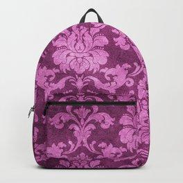 Antique Dark Pink Vintage Pattern Print Backpack
