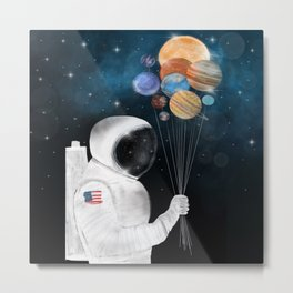 space party Metal Print
