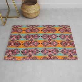 Ornate Oriental Colorful Bright Intricate Pattern Rug