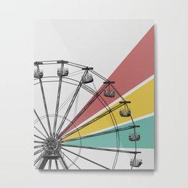 Reckless Abandon: Ferris Wheel Metal Print