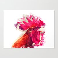 rooster Canvas Prints featuring Rooster by jbjart