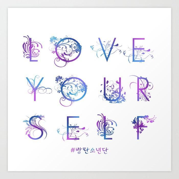 Kpop BTS: LOVE YOURSELF! Kunstdrucke