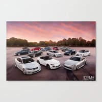 cars Canvas Prints featuring Cars by 1013MM