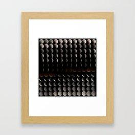 Super Moon, Blood Moon, Total Lunar Eclipse timelapse showing all phases Framed Art Print