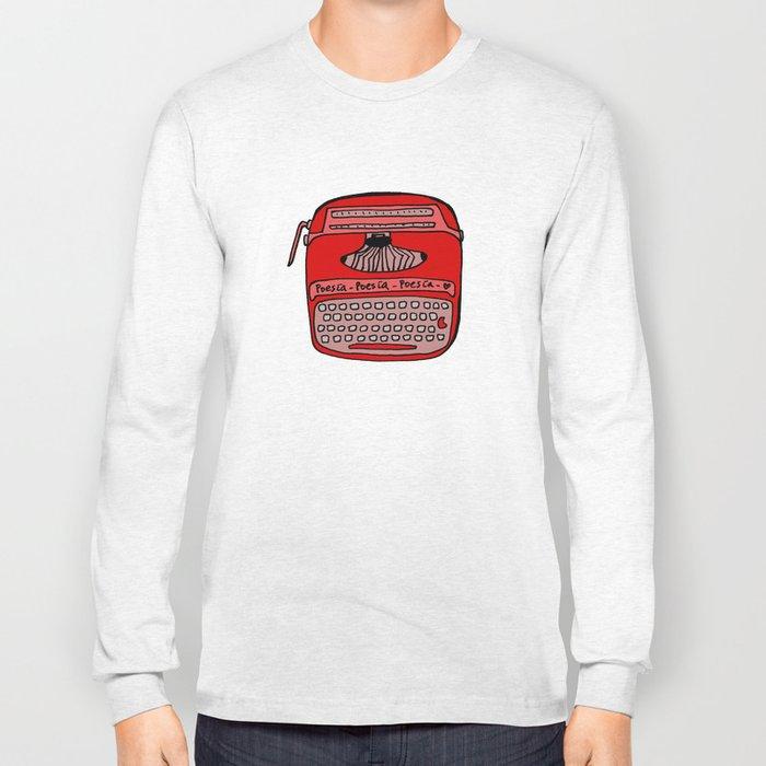 Poesía typewriter Long Sleeve T-shirt