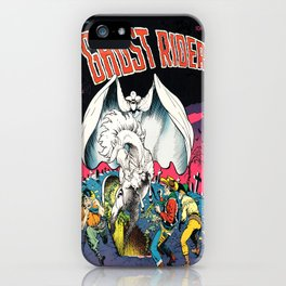 The Ghost Rider Vintage Golden Age Comic Art iPhone Case
