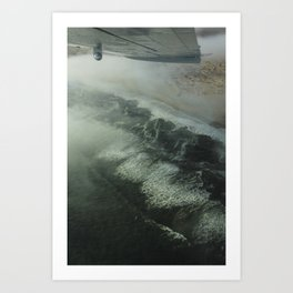 Flying over the Namib desert. Art Print