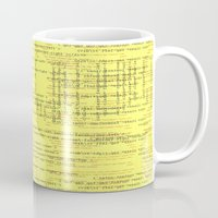 code Mugs featuring Code Yellow by Emma Stein