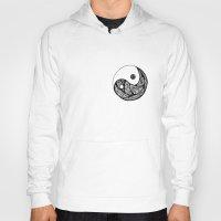 yin yang Hoodies featuring Yin Yang by Bearskin