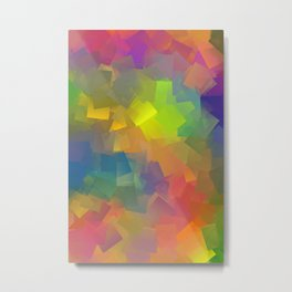 Abstract cubism -2- Metal Print