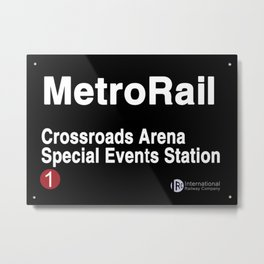 Crossroads Arena Special Events Station Metal Print