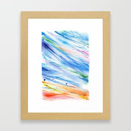 abstract beach watercolor painting Framed Art Print