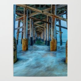 Long Exposure Under Newport Pier Poster