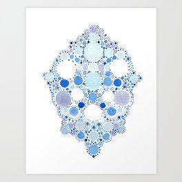 Blue Watercolor Dots Art Print