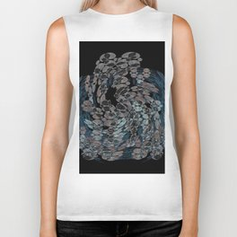 Elegant Stone Whirlwind Earth Elements Abstract Biker Tank