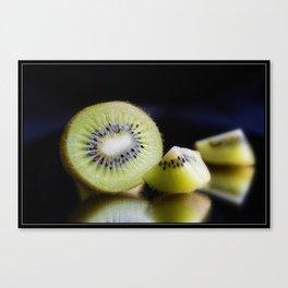 Sliced Kiwi Fruit - Kitchen or Cafe Decor Canvas Print