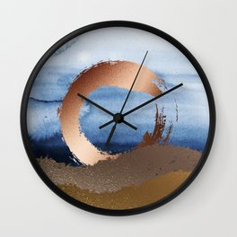 Inspiration: Gold, Copper And Blue Wall Clock