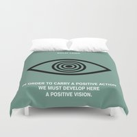 lama Duvet Covers featuring Lab No.4 - A Positive Action & Vision Dalao Lama Inspirational Quotes poster by Lab No. 4