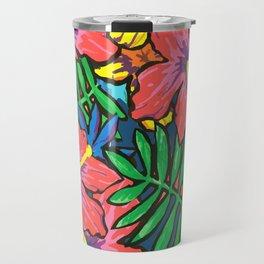 hawaiian floral Travel Mug