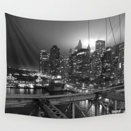 NYC Lights Wall Tapestry