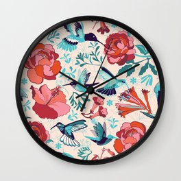 Hummingbird summerdance Wall Clock