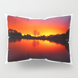 Autumn Scratchings at a Carlsruhe Sunset Pillow Sham