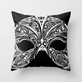 Swan Mask Throw Pillow