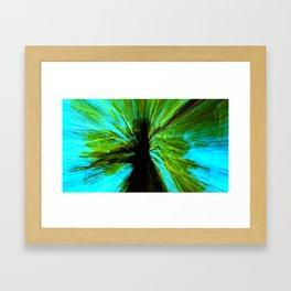 the negative tree Framed Art Print
