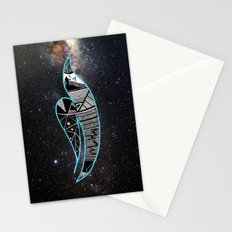 Rain Bird in Space Stationery Cards