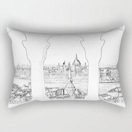 Budapest and hungarian parliament Rectangular Pillow