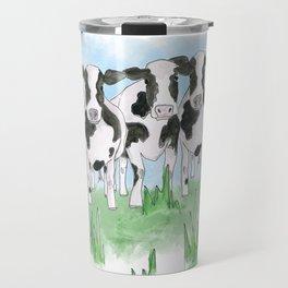 A Field of Cows Travel Mug