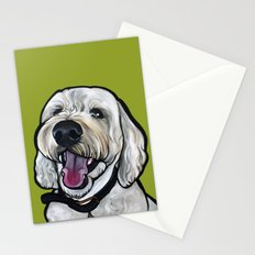 Kermit the labradoodle Stationery Cards
