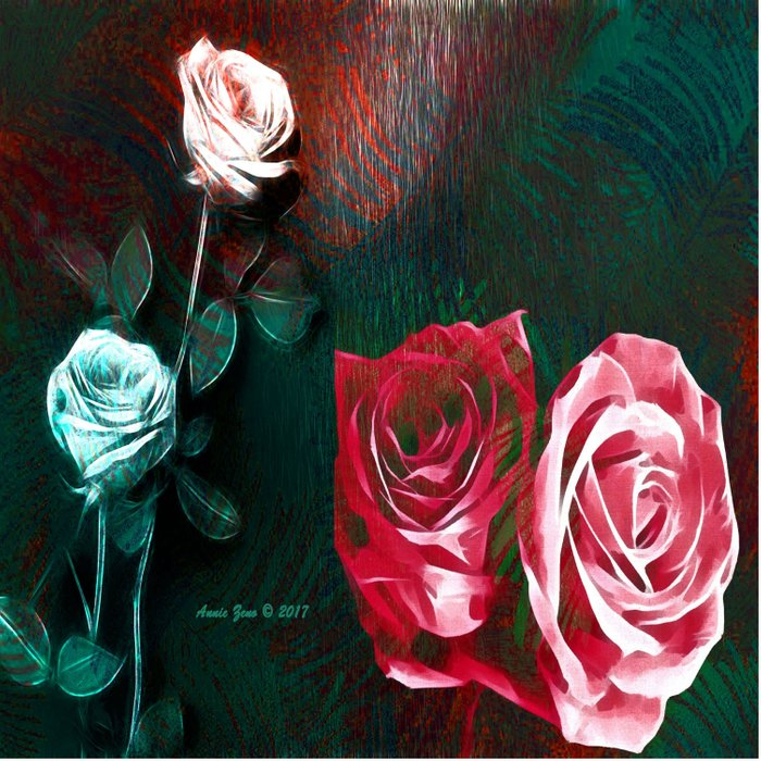 Roses Digital Art By Annie Zeno Comforters