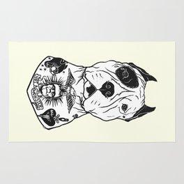 American Pitbull Tattooed Rug