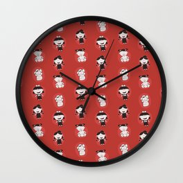 Girls Growing Up (Patterns Please) Wall Clock