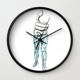 Whoops! Torso is a Snake Now Wall Clock
