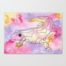 Colorful Salamander Canvas Print