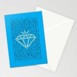 diamond cyan Stationery Cards