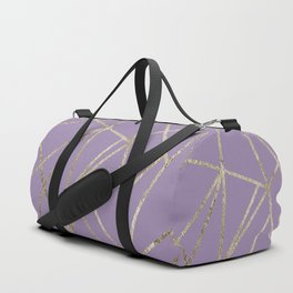 Classic Lavender Gold Geo #1 #geometric #decor #art #society6 Duffle Bag