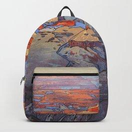 Grand Canyon Hiroshi Yoshida Vintage Japanese Woodblock Print Backpack