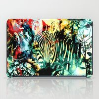 zebra iPad Cases featuring ZEBRA by RIZA PEKER