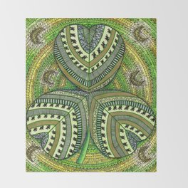 Patterned Shamrock Throw Blanket