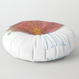 Poofy Frizzle Muff Floor Pillow