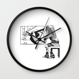 Drawing a picture Wall Clock
