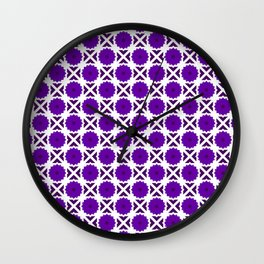 Flowers and spikes – purple Wall Clock