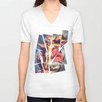 jesus V-neck T-shirts featuring Jesus by Ibbanez