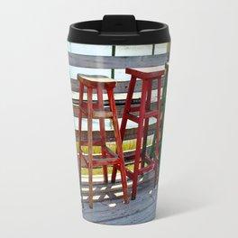 Weathered Bar Stools Travel Mug