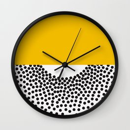 Abstract art PRINt, Polka dots print, Abstract poster, Minimalist Print, Dot art print, Red and pink Wall Clock